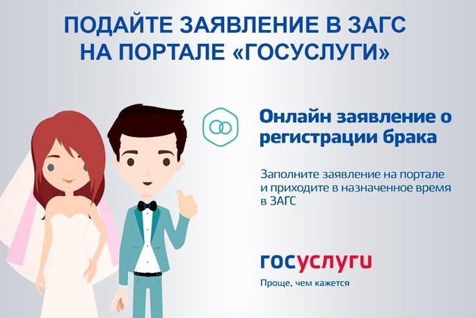 Подача заявление о регистрации брака на сайте Госуслуги